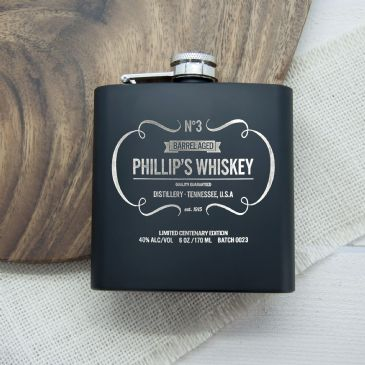 Personalised Whiskey Vintage Hip Flask